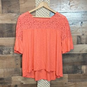 Coral top perfect for spring and Easter